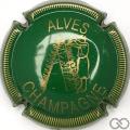 Champagne capsule 29 Vert clair et or, striée