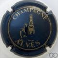 Champagne capsule 8 Bleu métallisé et or