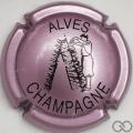 Champagne capsule 32.v Rosé-violacé et noir