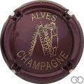 Champagne capsule 13 Bordeaux foncé et or