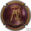 Champagne capsule 32.p Bordeaux et or, striée