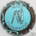 Champagne capsule 32.f Bleu pâle, contour marron