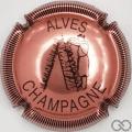 Champagne capsule 25 Rosé et noir, striée