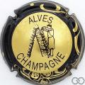 Champagne capsule 32.i Or, contour noir