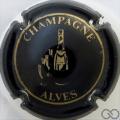 Champagne capsule 1 Noir et or, petites lettres