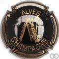 Champagne capsule 26 Noir et or, striée