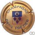 Champagne capsule 2 Or, bleu et rouge