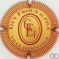Champagne capsule 20 Or mat et rouge, striée, petites lettres