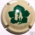 Champagne capsule A1.broquet Grande feuille, sans cercle et sans  inscription sur contour