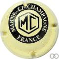 Champagne capsule A1.marcha Crème et noir n° 2