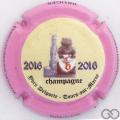 Champagne capsule A1.delyve Delportes Yves. 2016 contour rose