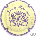 Champagne capsule A1.simjac Simonet Jackie, Contour violet, fond jaune-crème