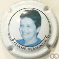 Champagne capsule A1.banne Cuvée Eliane Vlaminck, portrait bleu