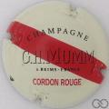 Champagne capsule A1.mummgh Crème, Cordon rouge n° 134