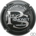 Champagne capsule 9 Noir et argent