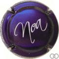 Champagne capsule A2 Fond violet métallisé