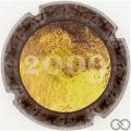 Champagne capsule 26.d 2009 or et noir