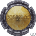 Champagne capsule 26.b 2012, estampée or