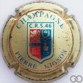 Champagne capsule 15.a C.R.S.46 or pâle et bleu turquoise