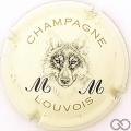 Champagne capsule 1 Crème, noir et or