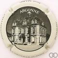 Champagne capsule 47.a L'Argonne, noir et blanc