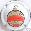 Champagne capsule A14 Boule de Noël, en relief