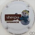 Champagne capsule A28 Sherpa supermarché, fond blanc