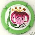 Champagne capsule 90.a PALM, Orchidée, contour vert