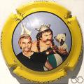 Champagne capsule 31.a Jéroboam, contour jaune