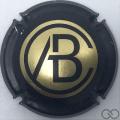 Champagne capsule 1.b Or, contour noir