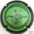 Champagne capsule 1.g Vert, contour noir, 32 mm