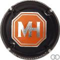 Champagne capsule 40 Noir, orange et métal