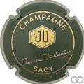 Champagne capsule 7 Vert foncé et or