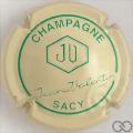 Champagne capsule 2 Crème et vert, écusson vide