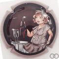 Champagne capsule 91.g Contour gris et noir
