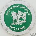 Champagne capsule 13.c Willems, vert, contour blanc