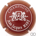 Champagne capsule 6 Bordeaux, striée