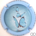 Champagne capsule A1.d Papillon, contour bleu