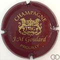 Champagne capsule 2.a Bordeaux et or brillant