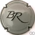 Champagne capsule 8 Gris, contour noir