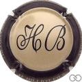 Champagne capsule 7 Beige, contour noir
