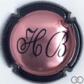 Champagne capsule 8 Rosé, contour noir
