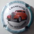 Champagne capsule 15.c 4/6 4ème série Voiture 2008 fond blanc