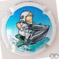 Champagne capsule 87 Jet Ski, contour blanc