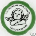 Champagne capsule 30 Porcelaine, contour vert