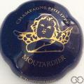 Champagne capsule 30.d Bleu-nuit et or 22 carats