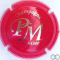 Champagne capsule A3.a Opalis rouge et or