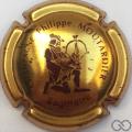Champagne capsule 6.v Sagittaire, or et bordeaux, sans date