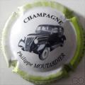 Champagne capsule 15.e 6/6 4ème série Voiture 2008 fond blanc