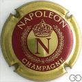 Champagne capsule 1 Or et bordeaux